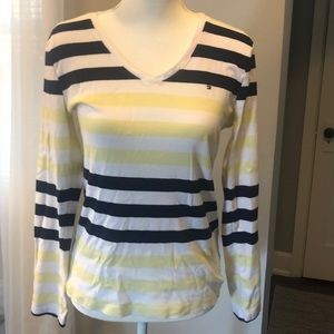 🍋{Tommy Hilfiger} Yellow Striped Long Sleeve